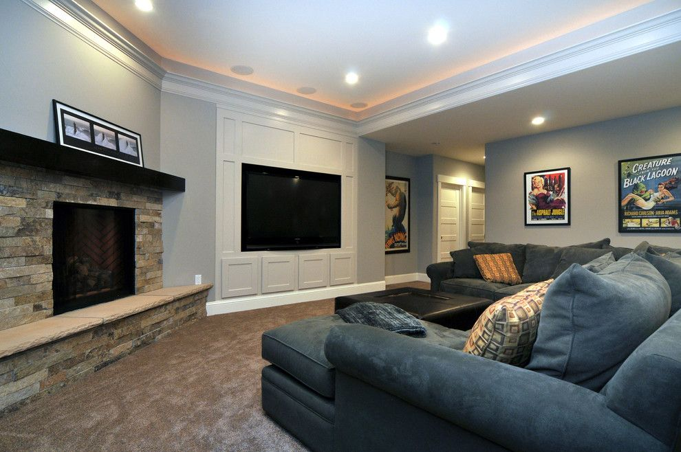 Kb Homes Denver for a Traditional Basement with a Wall Art and Observatory Park Custom Home by Austin Signature Homes