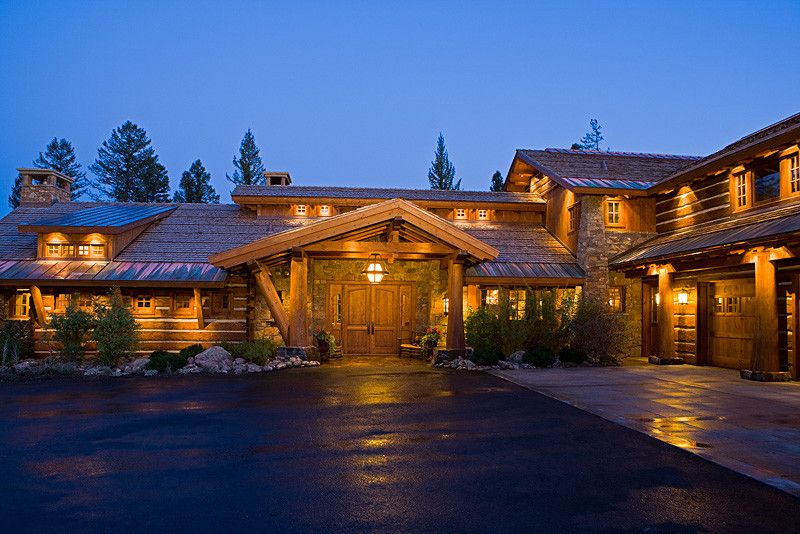 Kb Homes Denver for a Traditional Entry with a Horizontal Wood Siding and Bear Basin Ranch by Centre Sky Architecture Ltd