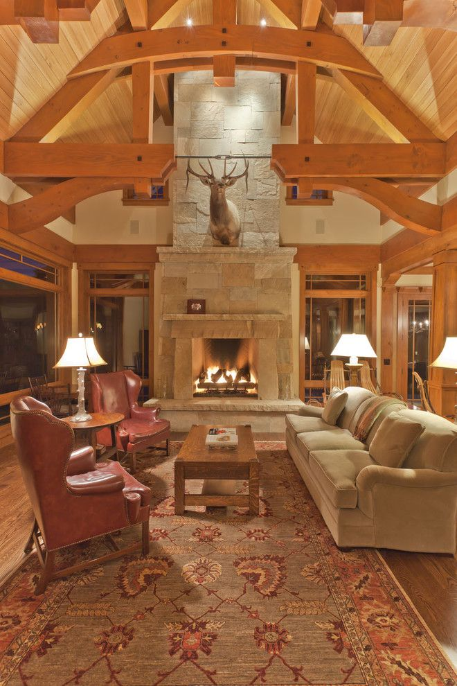 Kb Homes Denver for a Traditional Family Room with a Roaring Fork and Holtz Great Room by David Johnston Architects