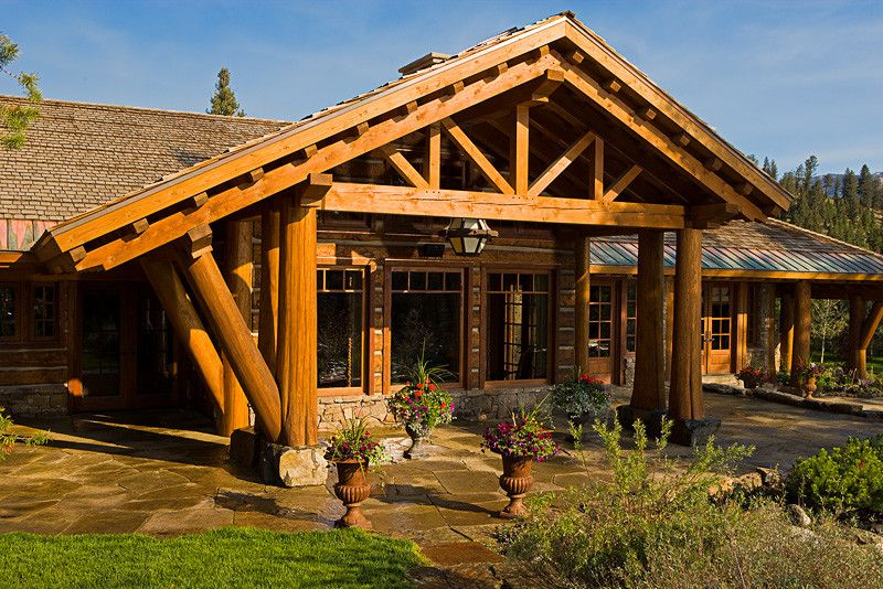 Kb Homes Denver for a Traditional Patio with a Big Sky Architect and Bear Basin Ranch by Centre Sky Architecture Ltd