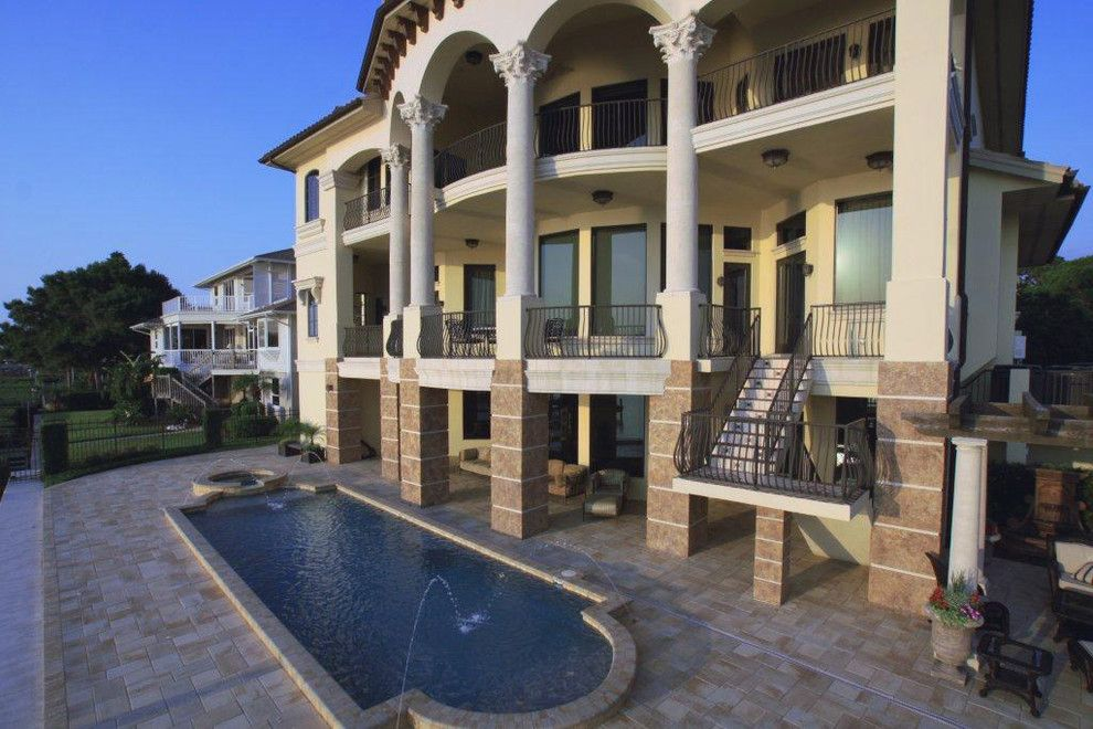 Kb Homes Orlando for a Mediterranean Exterior with a Mediterranean and Venetian Style Waterfront Palazzo by Dream Home Design Usa