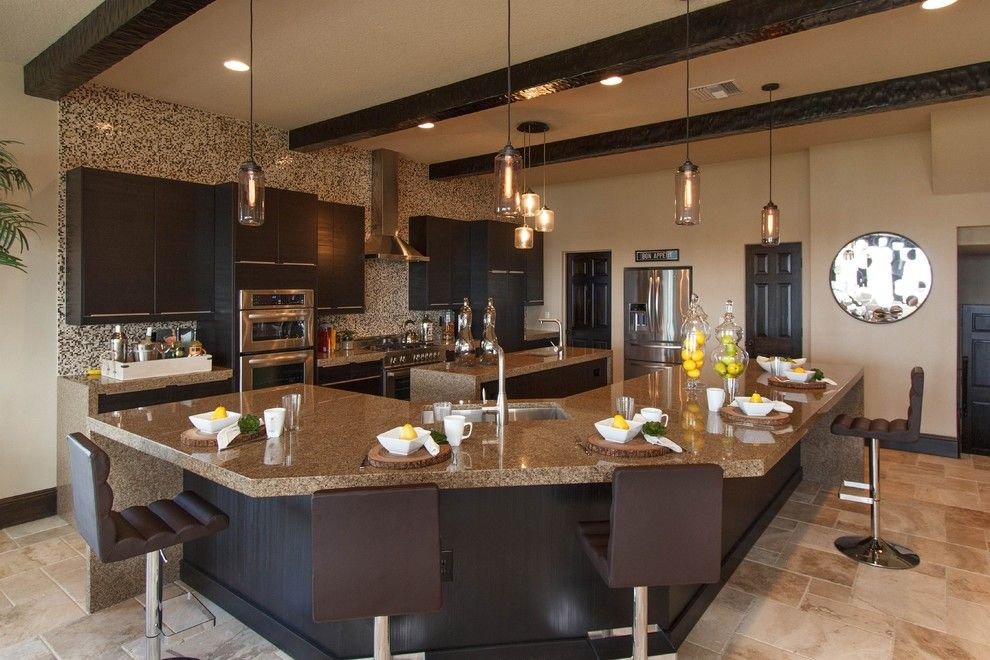 Kb Homes Orlando for a Mediterranean Kitchen with a Breakfast Nook and La Playa by Cam Bradford Builder