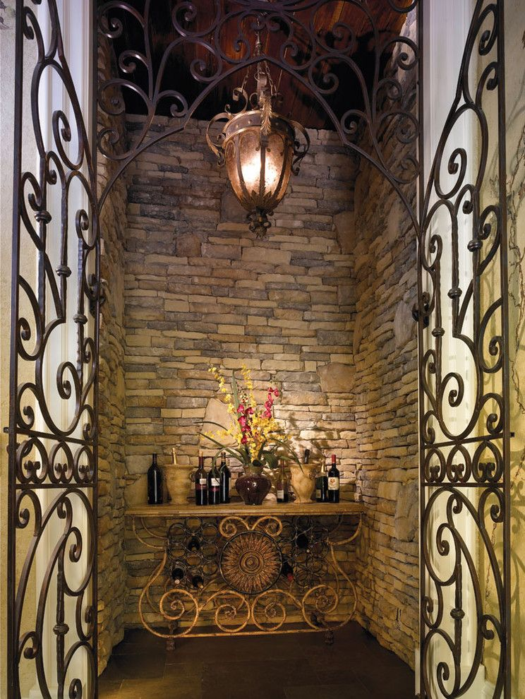 Kb Homes Orlando for a Mediterranean Wine Cellar with a Mediterranean and Cinque Terre (By: Homes by Carmen Dominguez) by Mjs Inc. Custom Home Designs