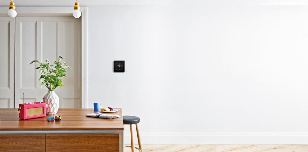 Kb Homes Reviews for a Contemporary Dining Room with a Smarthome Technology and Honeywell Home by Honeywell Home