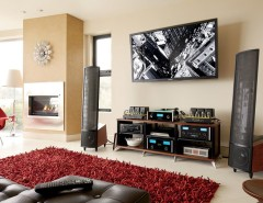 Kc Auto Paint for a Modern Family Room with a Flat Screen Tv and FAMILY ROOMS by Magnolia Design Center