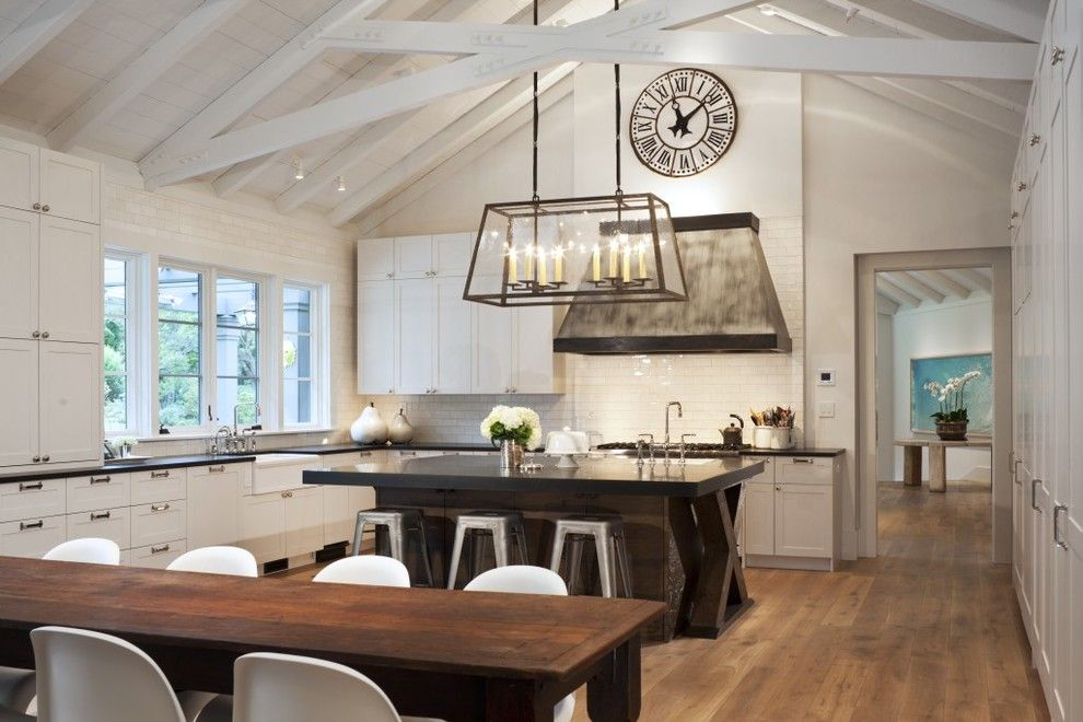 Kc Auto Paint for a Transitional Kitchen with a Exposed Beams and Ross Estate by Capomastro Group