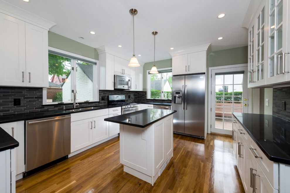 Kemper Direct for a Contemporary Kitchen with a Subtle but Chic and Kitchen Renovation in Great Neck NY by HOMEREDI