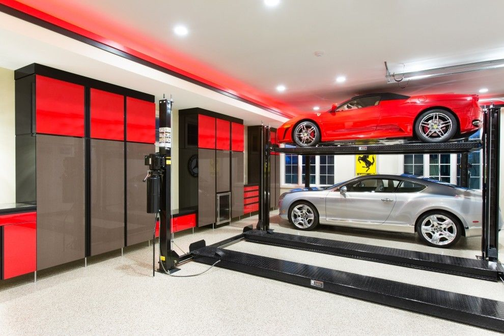 Ken Burns Prohibition for a Contemporary Garage with a High Gloss Cabinets and Garage by Closet Organizing Systems