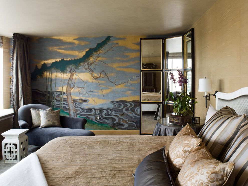 Kettle River Furniture for a Eclectic Bedroom with a Upholstery and St. Regis Sf High Rise by Kendall Wilkinson Design