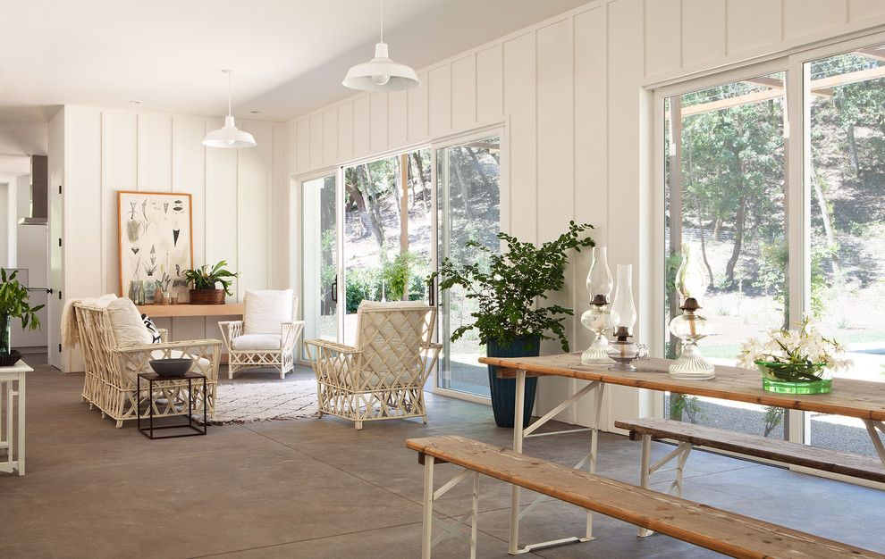 Kettle River Furniture for a Farmhouse Living Room with a Plants and Chauvet by Nick Lee Architecture
