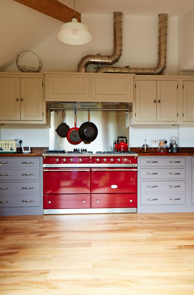 Kettle River Furniture for a Industrial Kitchen with a Red Kettle and Industrial Kitchen by the Main Furniture Company