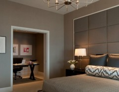 King Size Comforter Dimensions for a Contemporary Bedroom with a Chandelier and Delaware Place by Michael Abrams Limited