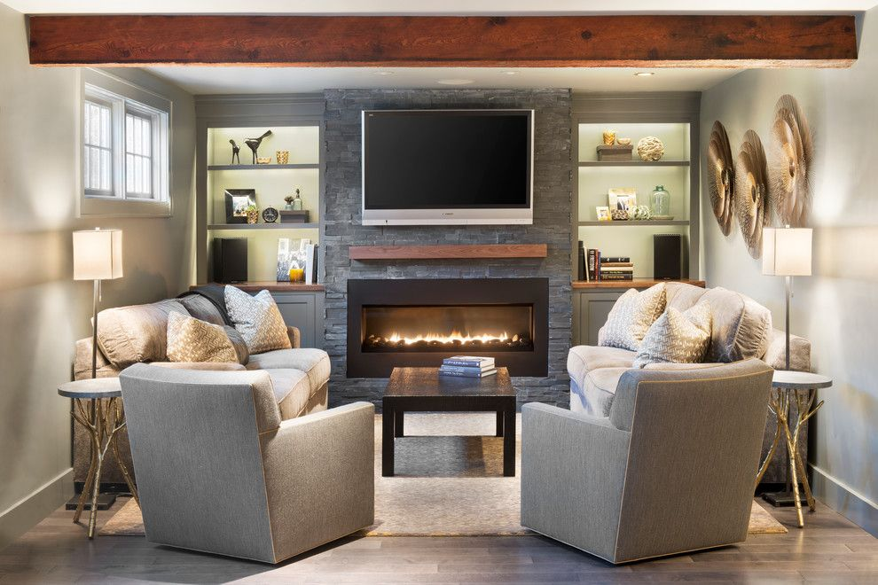 King Size Comforter Dimensions for a Traditional Living Room with a Exposed Beams and Sudbury by Pinney Designs