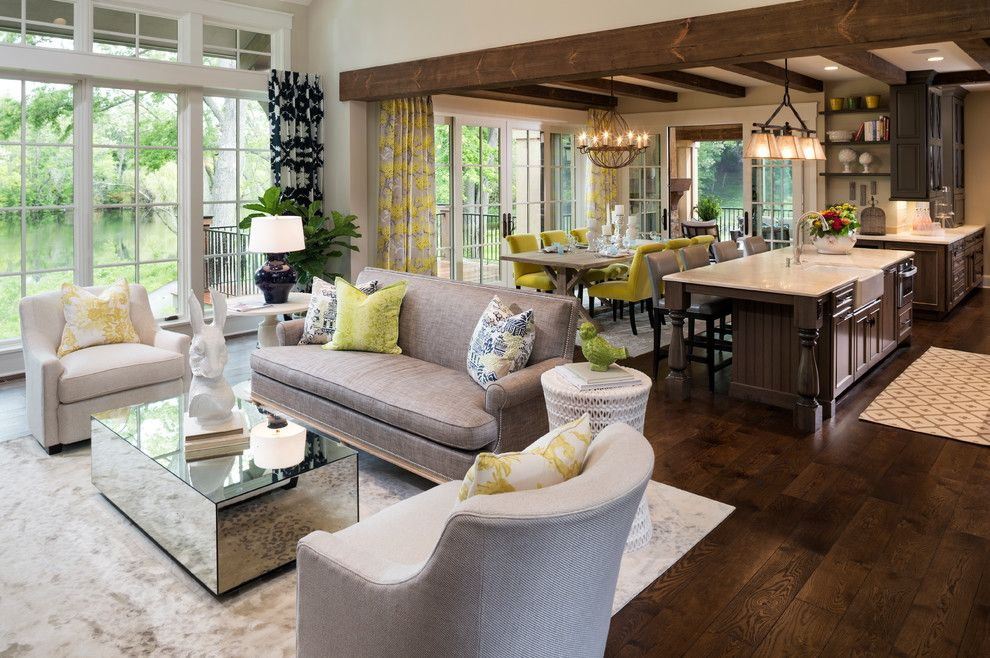 King Size Comforter Dimensions for a Traditional Living Room with a Natural Light and New French Country by Kyle Hunt & Partners, Incorporated