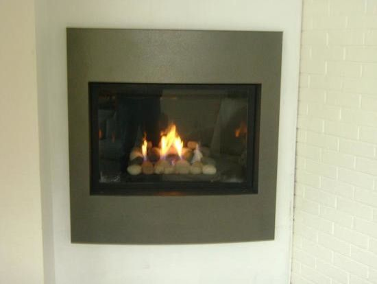 Kingsman Fireplace for a Contemporary Family Room with a Custom Fireplace and Marquis Collection by Kingsman. a Solara Direct Vent Gas Fireplace with a Pewter by Village Stove Fireplace