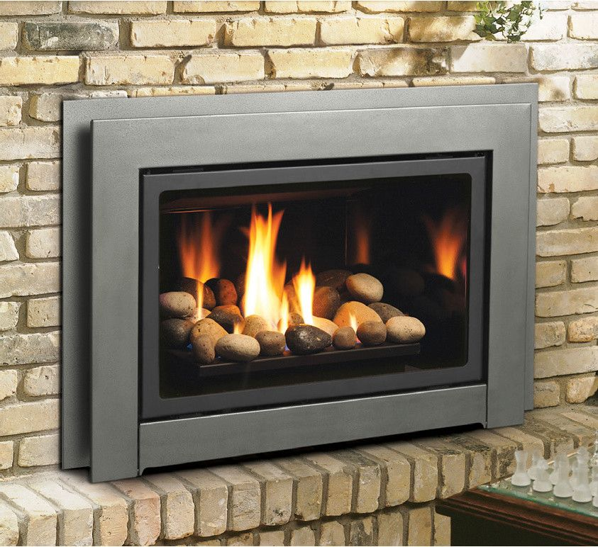 Kingsman Fireplace for a  Spaces with a Homeclick and Kingsman Direct Vent Fireplace Insert with Fiber Split Oak Log Set by Homeclick