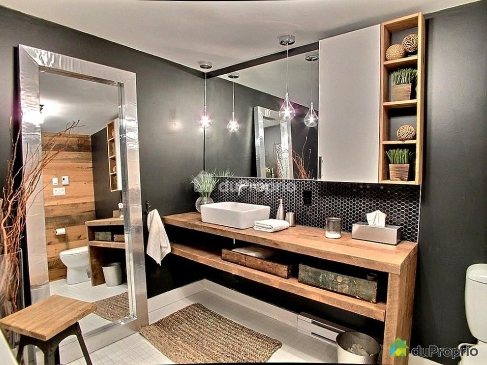 Kleenex Box for a Industrial Bathroom with a Barn Wood and Joseph-N-Drapeau II by WTF Project