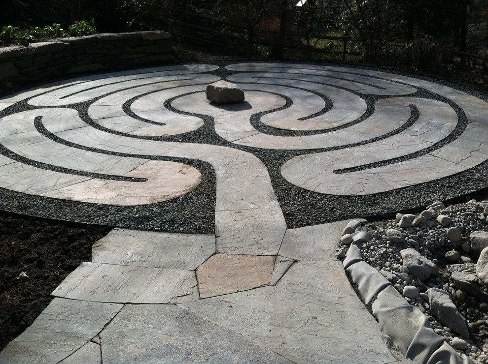 Klimt Tree of Life for a Eclectic Landscape with a Eclectic and Labyrinth by Claire Jones Landscapes