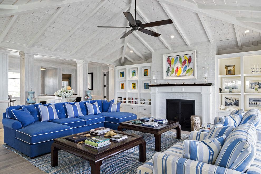 Knoxville Wholesale Furniture for a Beach Style Living Room with a Beach Style and Florida Beach Cottage by Village Architects AIA, Inc.