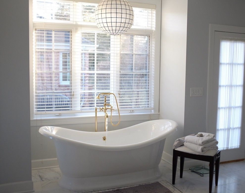 Knoxville Wholesale Furniture for a Transitional Bathroom with a Marble Tile and NY Estate by a Perfect Placement