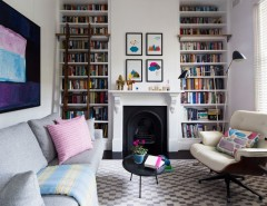 Koehler Home Decor for a Eclectic Living Room with a Large Colorful Art and Darlinghurst Terrace by Horton & Co. Designers