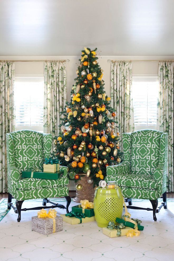 Koehler Home Decor for a Traditional Living Room with a Green and Tobi Fairley Holiday by Tobi Fairley Interior Design