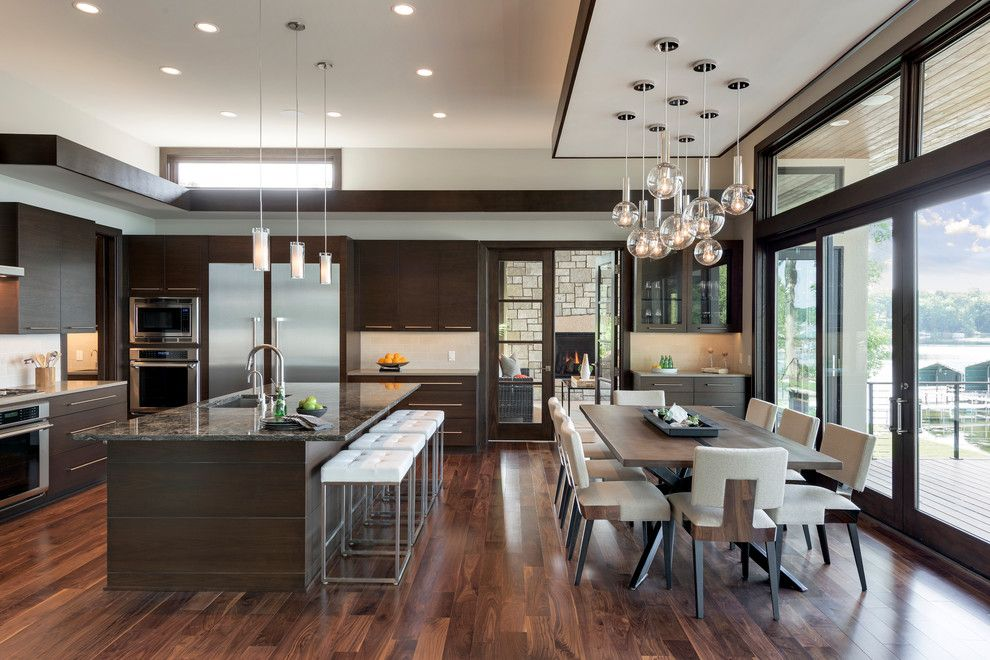 Koit for a Contemporary Kitchen with a Kitchen Island Lighting and 2015 Midwest Home Luxury Home #1   Denali Custom Homes by Spacecrafting / Architectural Photography