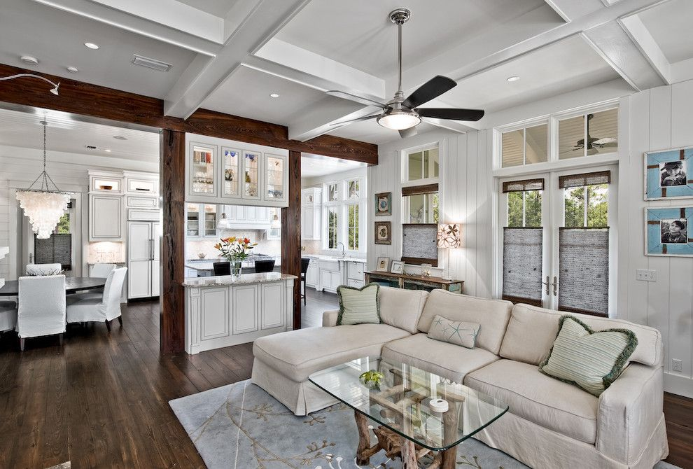 Koit for a Traditional Family Room with a Window Treatments and 155 Bluejack St Watercolor, Fl by Borges Brooks Builders