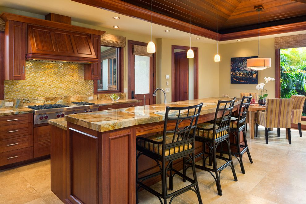 Kukio for a Tropical Kitchen with a Tropical and Kukio  Kailua Kona by Aina Ola, Llc