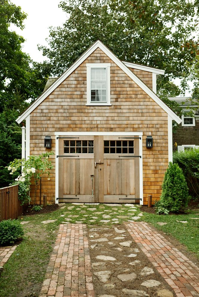 Lafayette House Nj for a Beach Style Garage with a Brick Pavers and 9 Howard Street   Nantucket by Peg Properties & Design