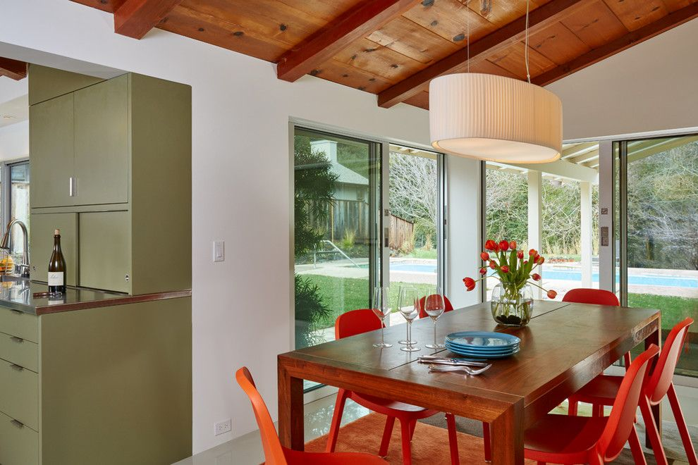 Lafayette House Nj for a Midcentury Dining Room with a Dinnerware and Lafayette Remodel by Jetton Construction, Inc.