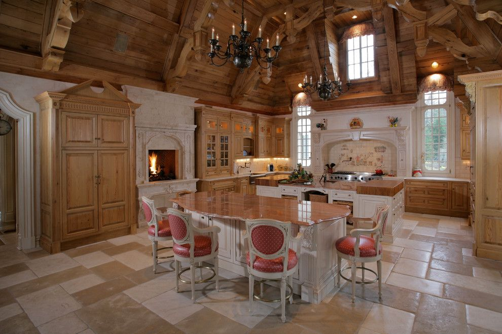 Lafayette House Nj for a Traditional Kitchen with a Double Islands and Saddle River, Nj Estate by Joe Commorata