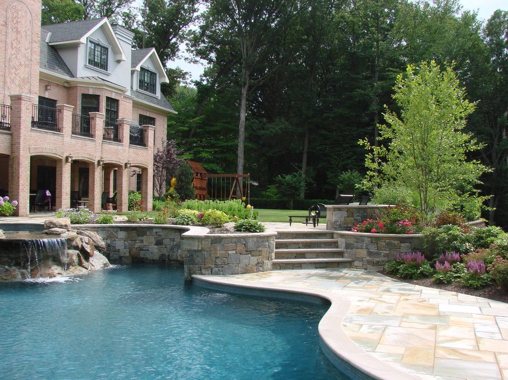 Lafayette House Nj for a Traditional Pool with a Patio and Essex Fells Nj by Landscape Techniques Inc.
