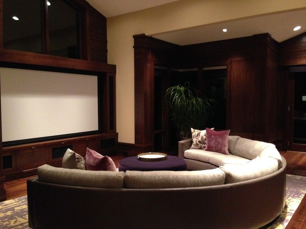Lake Elsinore Theater for a Contemporary Family Room with a Home Theater and Seven Lakes Estate by Buckingham Resources Ltd