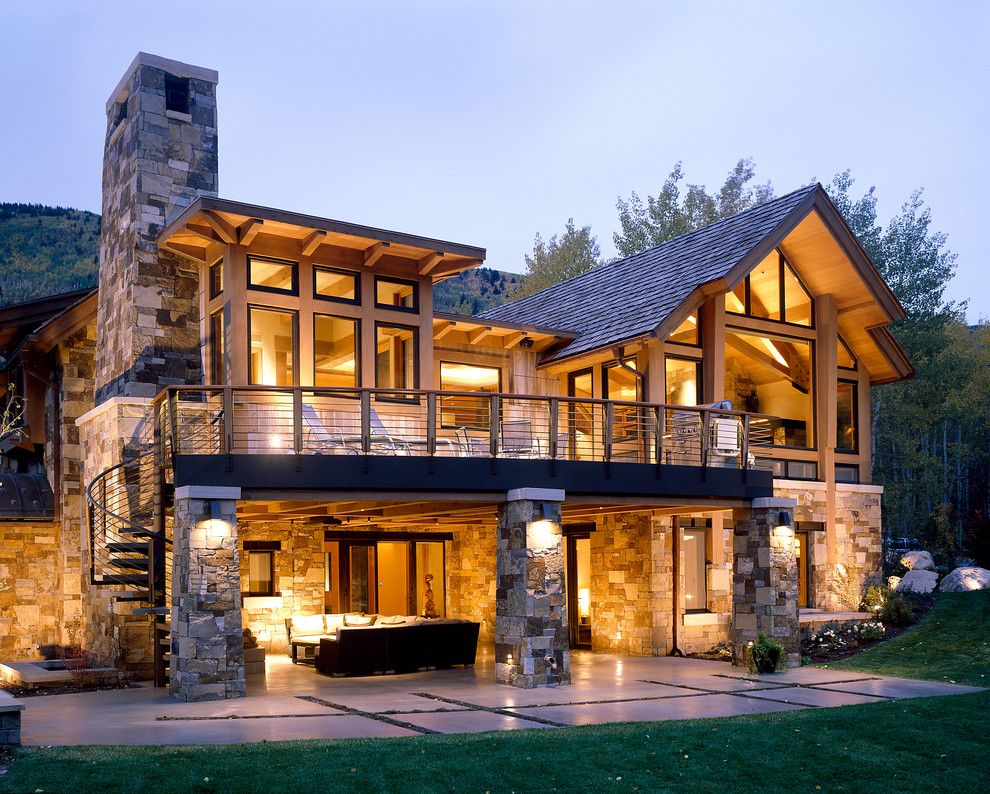 Lake Glenville Nc for a Traditional Exterior with a Transom and Independence Retreat by Charles Cunniffe Architects Aspen