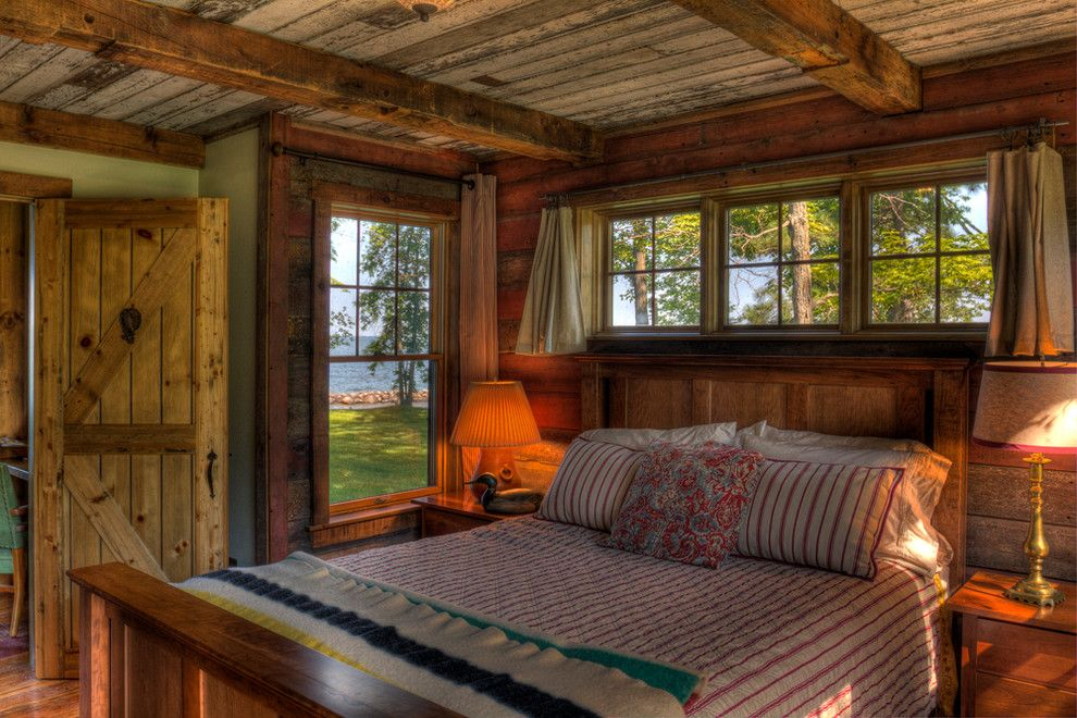 Lake Land Florida for a Rustic Bedroom with a Lake View and Leech Lake  Bedroom by Lands End Development   Designers & Builders