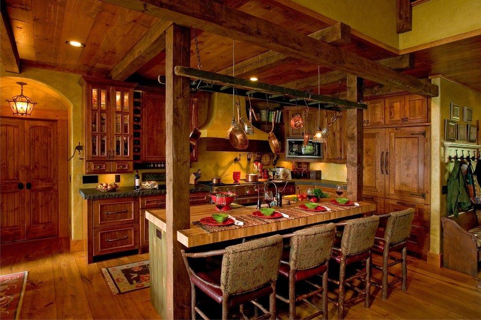 Lake Land Florida for a Rustic Kitchen with a Kitchen Island and Kitchen by Lands End Development   Designers & Builders