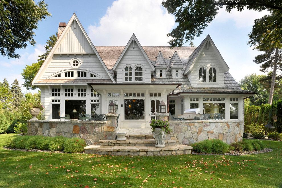 Lake Land Florida for a Traditional Exterior with a Cedar Shake and 28. Lake Minnetonka Cottage by Sharratt Design & Company