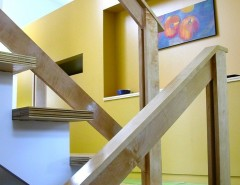 Lake Monticello Va for a Modern Staircase with a Modern and Lake Monticello Family Residence by Blueply Design