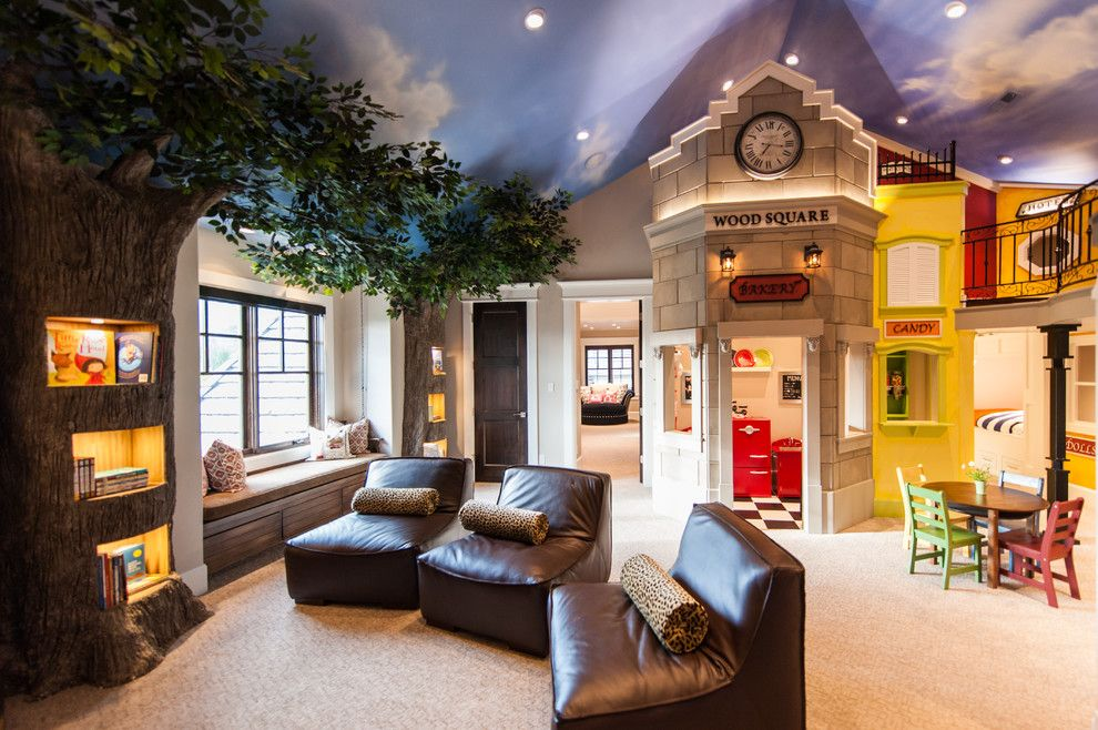 Lake Theater Lake Oswego for a Traditional Kids with a Built in Window Bench and Traditional Kids by Mountaincabinetry.com