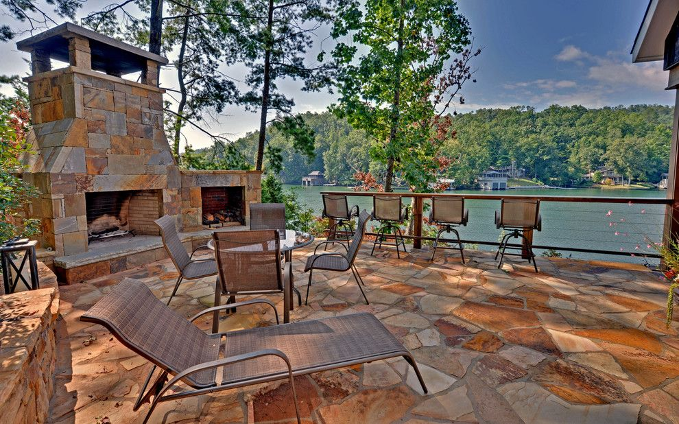 Lake Winnipesaukee Real Estate for a Rustic Patio with a Envision Virtual Tours and Lake Burton Custom Homes by Envision Web