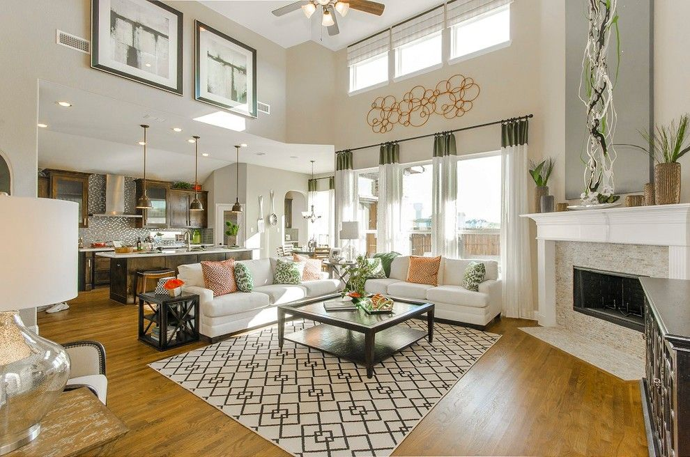 Landon Homes for a Traditional Family Room with a Family Room and 5045 Venetian  Reserve at Lakeview by Landon Homes by Landon Homes