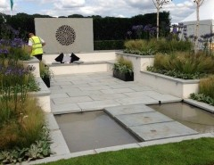 Lanier Tech College for a Contemporary Landscape with a Grasses and Silver-Gilt for BALI Show Garden at the 2014 RHS Flower Show Tatton Park by British Association of Landscape Industries