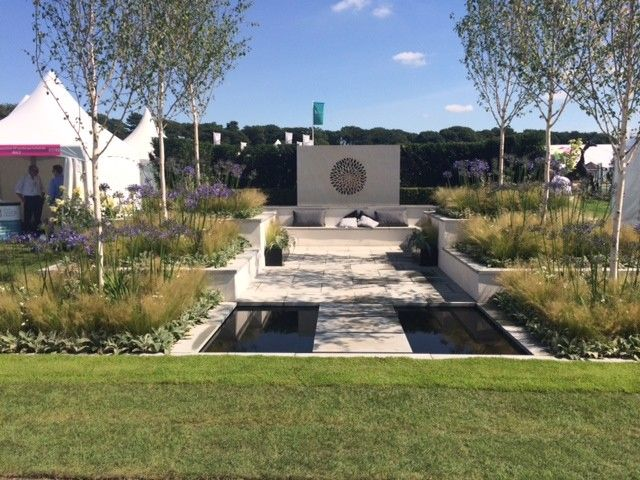 Lanier Tech College for a Contemporary Spaces with a Vogue and Silver Gilt for Bali Show Garden at the 2014 Rhs Flower Show Tatton Park by British Association of Landscape Industries