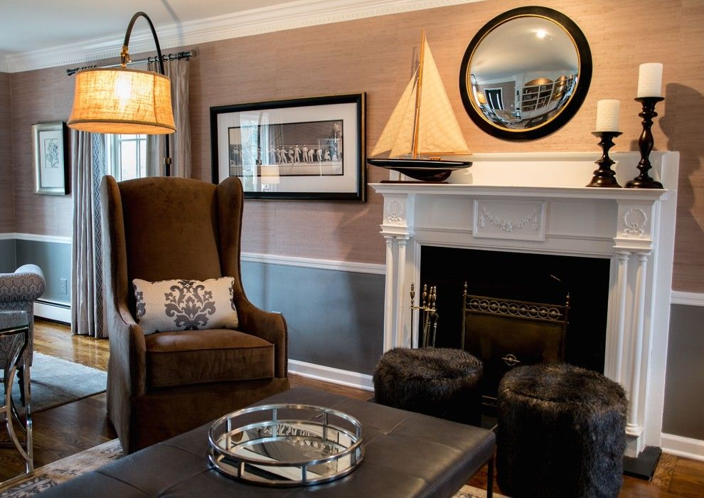 Larchmont Real Estate for a Transitional Living Room with a Metallic Paint and Country Estate by a Perfect Placement