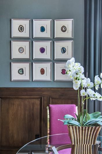 Larkins for a Traditional Home Office with a Purple and Blues by Emily Johnston Larkin