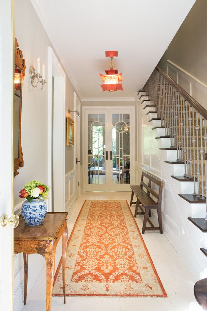 Larsondoors.com for a Traditional Entry with a Runner and Elegant Townhome in Pasadena by Charmean Neithart Interiors