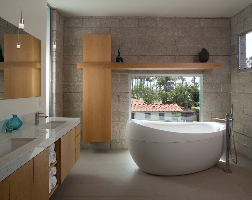 Leeds Certification for a Contemporary Bathroom with a Leed and Clean Living by Hill Construction Company