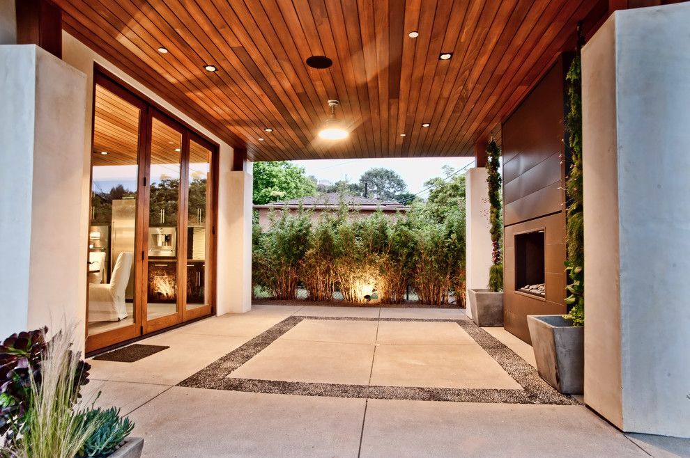 Leeds Certification for a Contemporary Patio with a Mission Style and Vision House Los Angeles by Structure Home