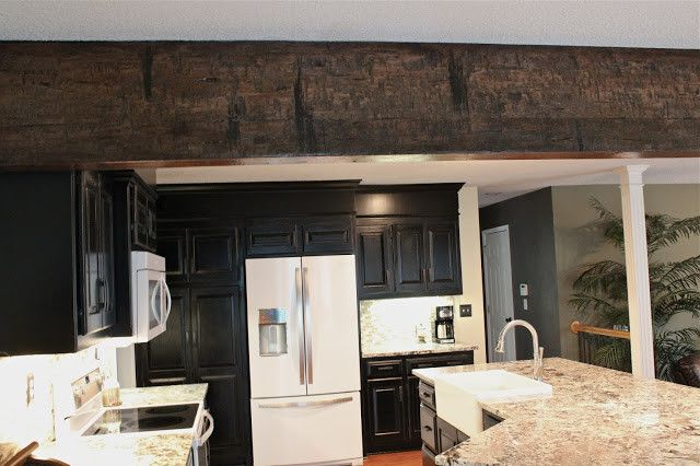 Lees Summit Honda for a Eclectic Spaces with a Black Kitchen Cabinet Refinishing and Lee's Summit, Missouri: Kitchen Renovation by Guehne Made